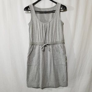 Lands End gray casual dress with draw string